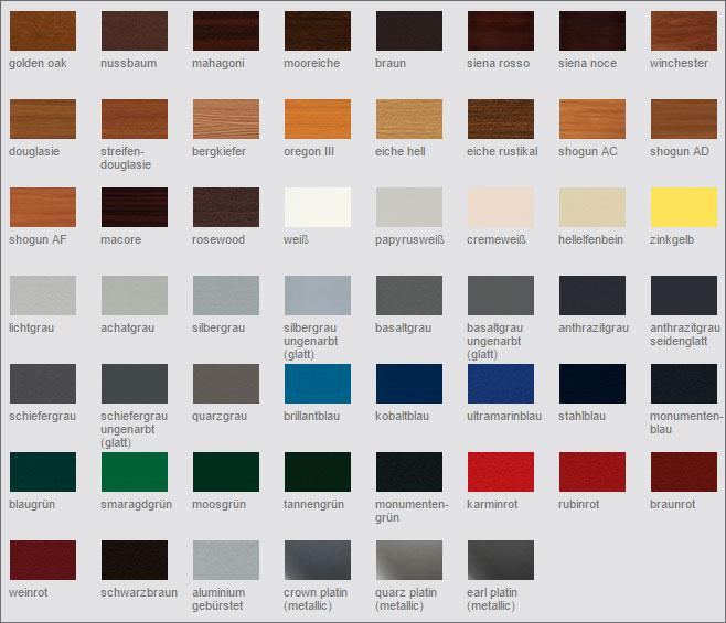 VEKA Kunststofffenster Farben