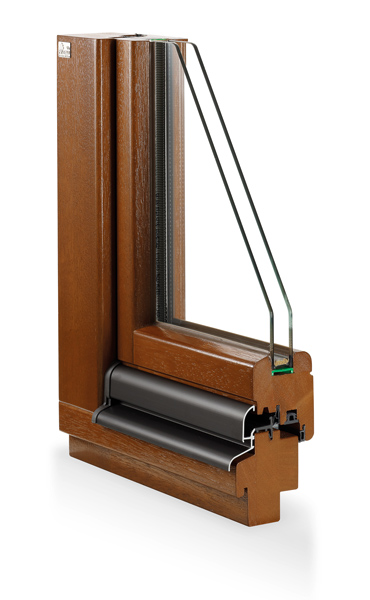 Niveau Holzfenster topline