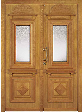 Niveau Holzhaustür Antik 4-302