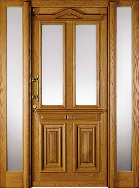 Niveau Holzhaustür Antik 4-402